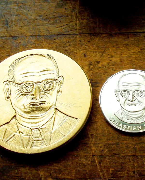 Eine Medaille entsteht